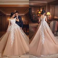 Discount 2018 Arabic Modern White Lace Applique Wedding Dresses A