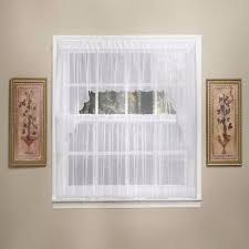 White Sheer Voile Curtains by Sheer Voile Tier Valance U0026 Swag Pair Curtainshop Com