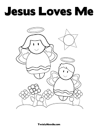 Free Images Coloring Jesus Loves Me Pages Printables On