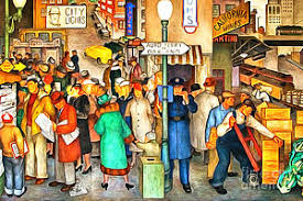 Coit Tower Murals Diego Rivera by Working Class Paintings Fine Art America