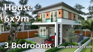 100 3 Level House Designs SketchUp Small Modern 2 6x9m With Bedrooms YouTube