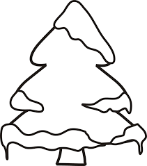 winter tree coloring page photo 1