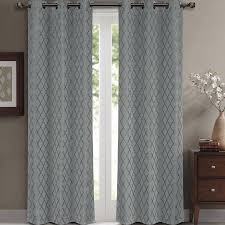 108 Inch Long Blackout Curtains by Luxury Egyptian Bedding Willow Jacquard White Grommet Blackout