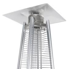 Az Patio Heaters Uk by Stainless Steel Patio Heater Outdoor Pyramid Propane Glass Tube