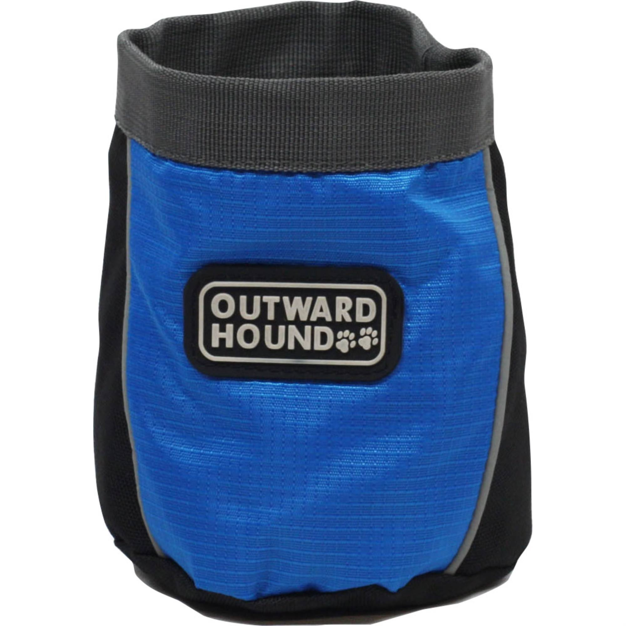 Outward Hound Kyjen Treat Tote Treat and Training Bag Dog Treat Carrier - Drawstring, Blue