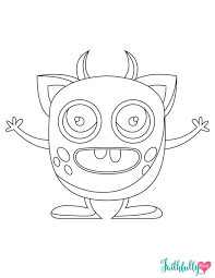 Halloween Monster Party Free Printable Coloring Sheet