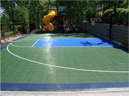 backyard basketball sport court traditional landscape st