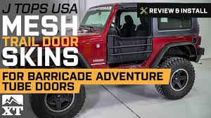 Jeep Wrangler J Tops USA Mesh Trail Door Skins 2007 2017 JK 2
