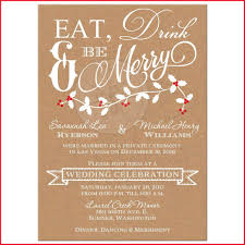 Post Wedding Reception Invitation 235576 Winter Eat Drink Amp