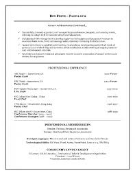 Resume Examples For Hospitality Industry Inside