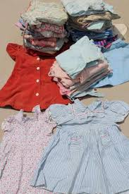 40s 50s Vintage Clothes For Little Girls Feed Sack Fabric Dresses Playclothes Etc