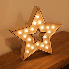 warm white led battery operated marquee circus wooden wall