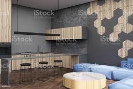 sechseckmuster wohnzimmer und barecke stockfoto und mehr bilder beton