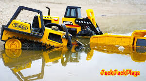 100 Toy Construction Trucks Tonka Working In Mud Kid Playing With S