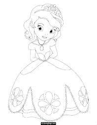 Disney Princess Coloring Pages Rapunzel Princesses Belle Free
