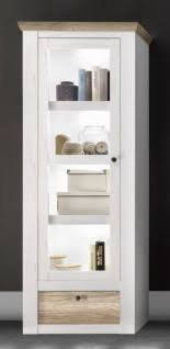 gloucester hochvitrine vitrine wohnzimmer schrank kiefer weiß eiche