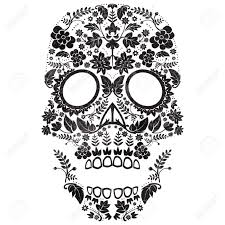 Easy Sugar Skull Day Of by Day Of The Dead Sugar Skull Illustration Royalty Free Cliparts