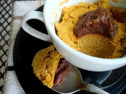 Pumpkin Throwing Up Guacamole by Sugar Detox Pumpkin Cake In A Mug With Chocolate Whip