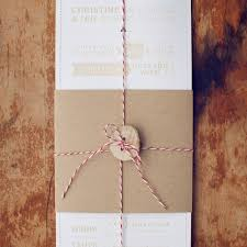 Rustic Wedding Invitations With Button