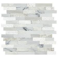 american olean mosaic tile shop american olean genuine refined white linear mosaic