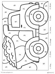 Number Coloring Pages For Toddlers Enjoyable Numbers Printable 1 Kids Colouring