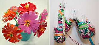 Paper Cup Flowers Hobby Horse