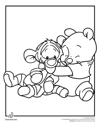 Disney Babies Coloring Pages Pooh And Tigger Page Cartoon Jr