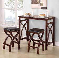 Unique Small Dining Room Sets With Two Padded Stools