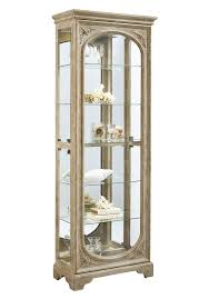 julian curio cabinet in light wood by pulaski home gallery stores