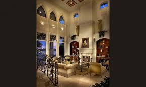 InteriorPerfect Modern Mediterranean Living Room Interior Design With Cream Tiles Flooring Also Hanging Lamp