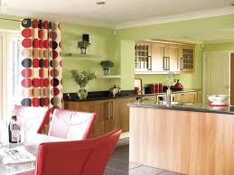 Green Kitchen Walls Modern Apartment Property New At Decor