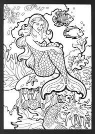 Kleurplaat Zeemeermin Realistic Mermaid Coloring Pages Download And Print For Free