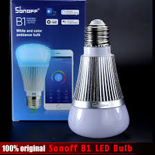 sonoff b1 led bulb dimmer wifi smart light bulbs remote
