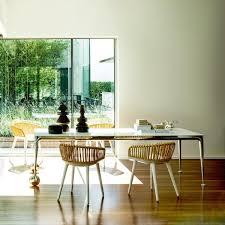 Palm 4 Chair Dining Set White Cushion