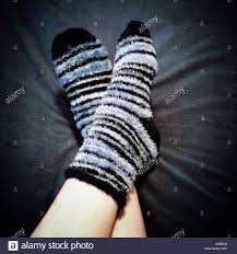 100 Foot Cozy Looking Feet In Warm Fluffy Socks Stock Photo 310032360 Alamy