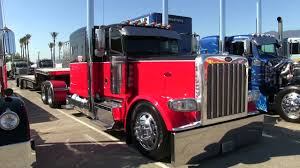 100 Step Deck Truck White Ing Peterbilt 389 And Reitnouer Trailer At