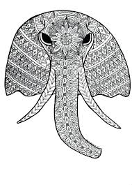 Free Coloring Pages For Adults No Download Elephant Printable Downloading Full Size