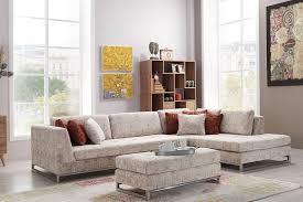 casa padrino designer wohnzimmer set ecksofa mit sitzhocker creme chrom hotel möbel