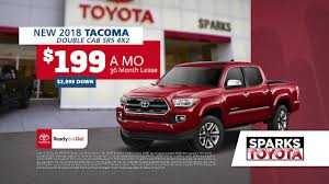 Sparks Toyota - Ready Set Go Truck Specials - YouTube 2018 Toyota Tacoma Pickup Truck Lease Offers Car Clo Vehicle Specials Faiths Santa Mgarita New For Sale Near Hattiesburg Ms Laurel Deals Toyota Ta A Trd Sport Double Cab 5 Bed V6 42 At Of Leasebusters Canadas 1 Takeover Pioneers 2014 Hilux Business Lease Large Uk Stock Available Haltermans Dealership In East Stroudsburg Pa 18301 Photos And Specs Photo