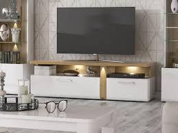 lowboard tv schrank fernsehtisch 163cm weiß hochglanz artisan eiche mordern