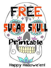 Sugar Skull Pumpkin Carving Patterns by Free Skull Printable Julie Erin Designs