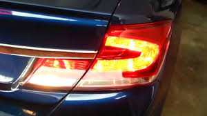 2013 honda civic lx sedan testing lights after changing