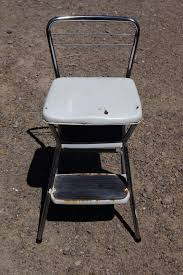 Cosco Retro Chair With Step Stool Black by Reclaimed Rustics Mid Century Cosco Step Stools Chairs