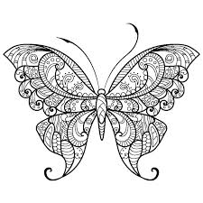 Smiley Butterfly Coloring Page For Preschool And Kindergarten Perfect
