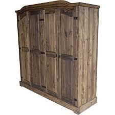 kleiderschrank 4 türig eiche antik classico schlafzimmer holz pinie massivholz echtholz farbe wählbar brasilmöbel