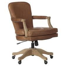 Baedekar Aged Leather Desk Chair