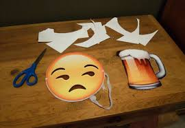 The Purge Halloween Mask by Print Out These Emoji Cutouts For The Easiest Halloween Costume