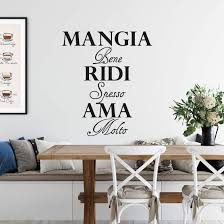 wandtattoo mangia bene ridi spesso ama molto