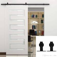 5-16FT Decorative Single Wood Sliding Barn Door Hardware Cabinet ... Amazoncom Hahaemall 8ft96 Fashionable Farmhouse Interior Bds01 Powder Coated Steel Modern Barn Wood Sliding Fascating Single Rustic Doors For Kitchens Kitchen Decor With Black Stool And Ana White Grandy Door Console Diy Projects Pallet 5 Steps Salvaged Ideas Idea Closet The Home Depot Epbot Make Your Own Cheap