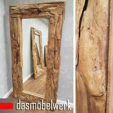 badezimmerspiegel spiegel teakholz wandspiegel 60cm